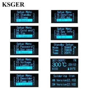 Image 5 - KSGER STM32 2.1S OLED DIY T12 Soldering Iron Station FX9501 Alloy Handle Electric Tools Temperature Controller Holder Welding