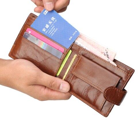 Famous Luxury Brand Men Wallet Genuine Leather Card Holder Wallet Male Coin Pocket Short Clutch Wallets Leather Bifold Men Purse Multan