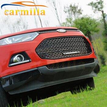 3 вида цветов выбор АБС хромированная Глянцевая решетка для автомобиля Передняя лицевая маленькая пуховая решетка для Ford Ecosport 2012 2013 2014 2015 2016...