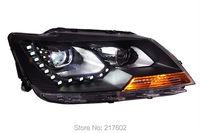 Car lights Assembly for Volkswagen VW Santana Headlights 2013 year LF