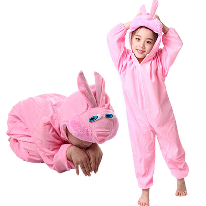Easter Children Kids Girl Dziewczyna Cartoon Animal Pink Rabbit - Kostiumy - Zdjęcie 1