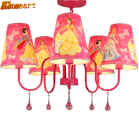 Hghomeart Fashion children modern crystal chandelier cartoon kids girl princess prink bedroom chandelier Led lamp