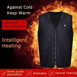 Image 3 - 男性女性屋外 usb 赤外線加熱ベストジャケット冬柔軟な電気熱衣類ウエストコートノースリーブ保温