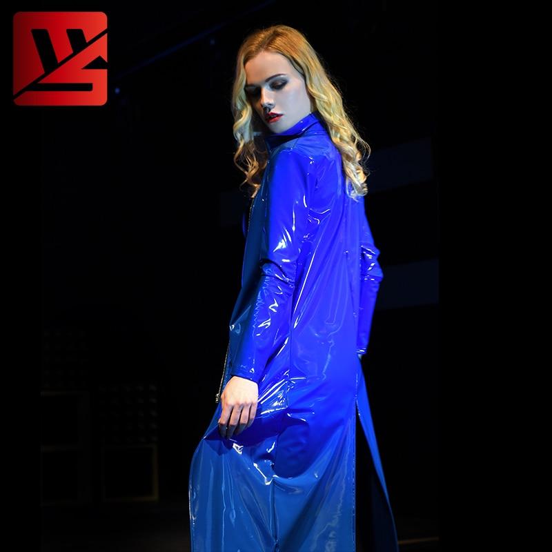 Top Trench Qualité Longue Westminster 2018 Étanche High De Patrimoine Bleu Pvc Femmes La Automne Street Nouveau Manteau ZW7wZ61q