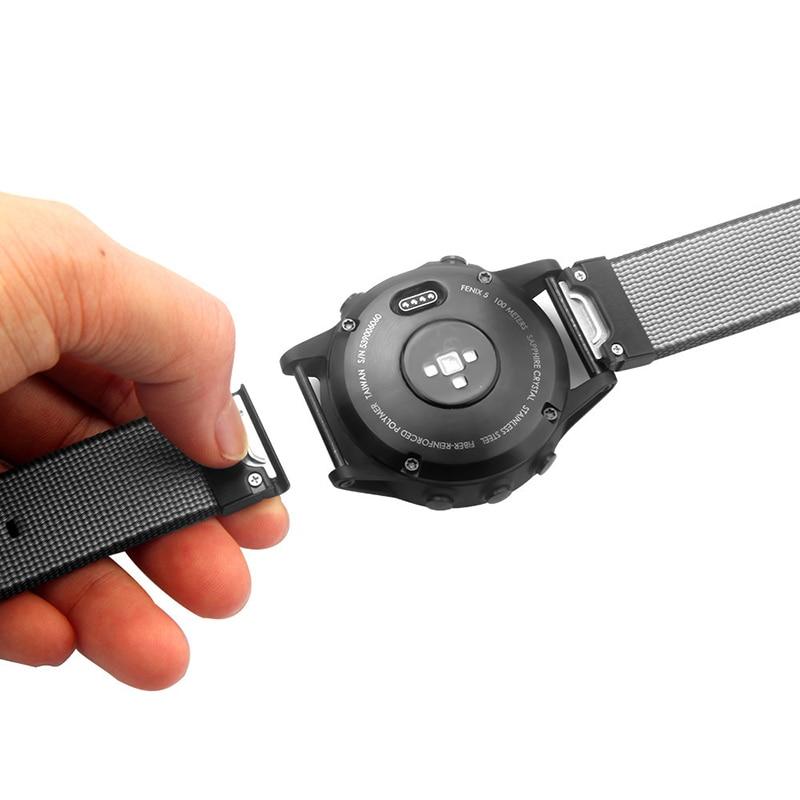 Fistar Nylon Quick Release Easy Fit Smart Watch Wrist Strap Band for Garmin Fenix 5 forerunner935 Approach S60 GPS Sport Watch