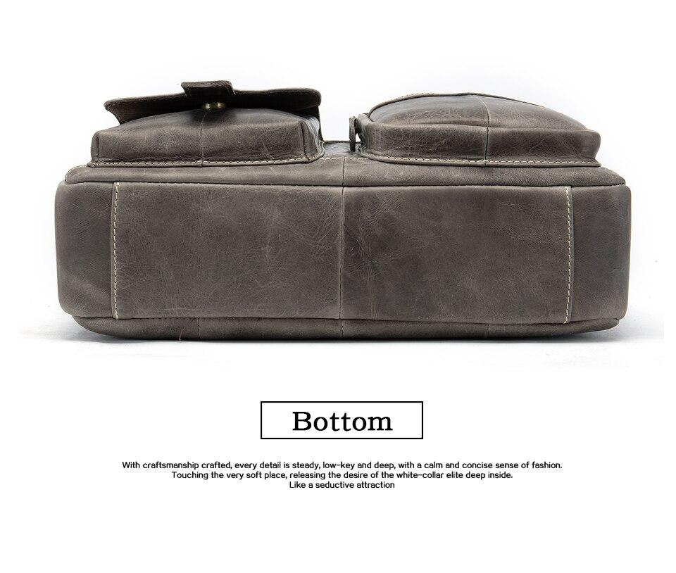 HTB1YsblaEvrK1RjSspcq6zzSXXaI WESTAL men's briefcase bag men's genuine Leather laptop bag office bags for men business porte document briefcase handbag 8503
