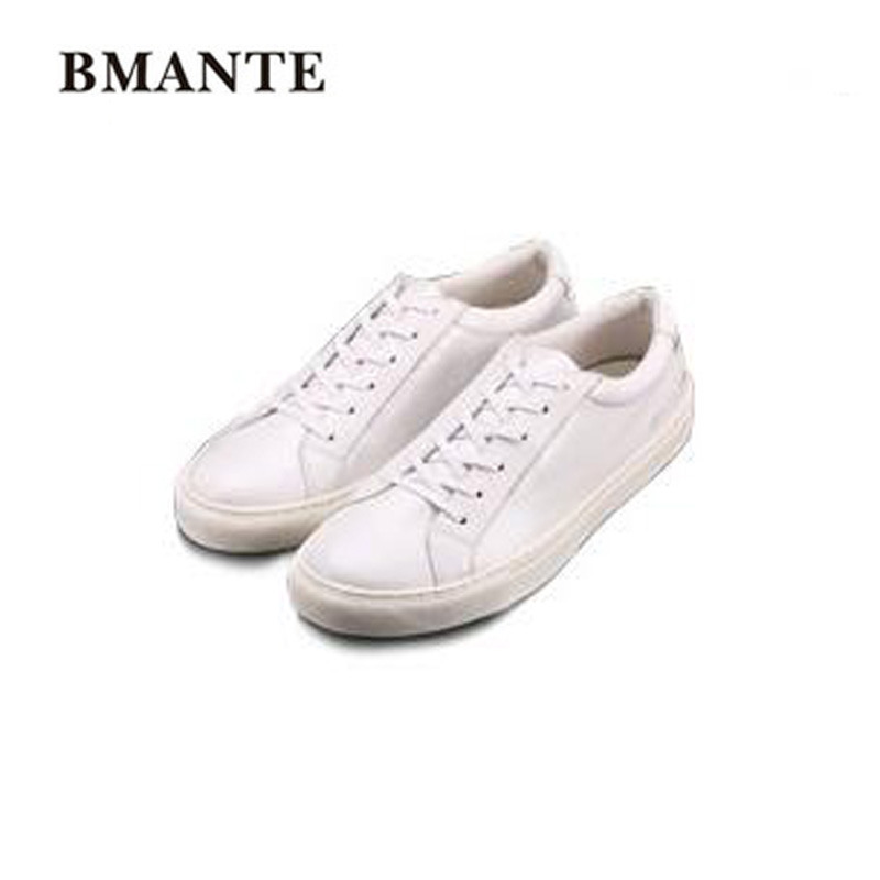 White Black Brogue Men Genuine Leather Shoes Luxury Trainers Summer Male Adult Shoes Casual Lace-up Flats Spring Black Shoes 2017 new spring imported leather men s shoes white eather shoes breathable sneaker fashion men casual shoes