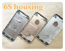 With buttons Full chassis fundas Housing For iphone 6s 4.7′ Back housing metal alloy cover battery door