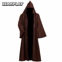 Star Wars Jedi Robe Obi Wan Kenobi Cosplay Costume Brown Cloak Halloween Outfit For Man Woman