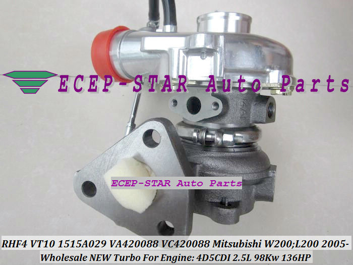 Free Ship RHF4 VT10 1515A029 VA420088 VB420088 Turbo For Mitsubishi W200 L200 KB_T KA_T Pickup 2005-14 Di-D 4WD 4D5CDI 2.5L DiD
