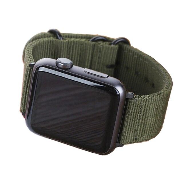 DIDI Strap For Nylon Apple Watch Band 38mm 42mm Band Bracelet Nylon Watch Strap Green High Quality iwatch Nylon Strap Series 3