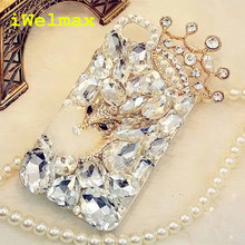iWelmax Bling Rhinestone Crystal Diamond Fox and Crown Soft Back Phone Case Cover For iPhone 7 7Plus 6 6s Plus 5 5S SE 5C