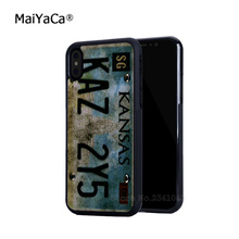 цена на Supernatural License Plate hot sell soft edge hard back mobile phone cases for iphone 4s 5 5c 5s 5se 6s 6plus 7 7plus case cover
