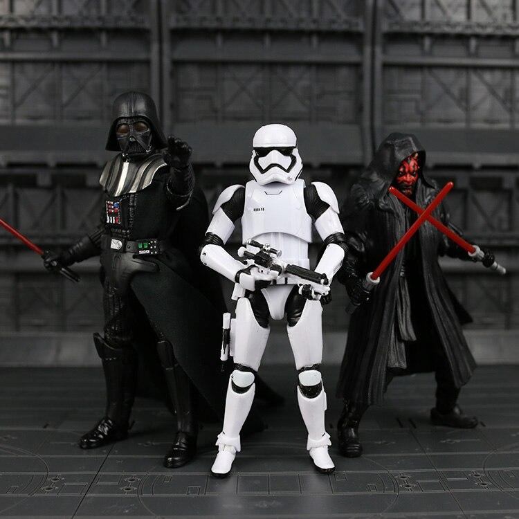 """<font><b>Star</b></font> <font><b>Wars</b></font> 7 The Force Awakens The <font><b>Black</b></font> <font><b>Series</b></font> #02 <font><b>Darth</b></font> vader #02 <font><b>darth</b></font> maul Stormtrooper <font><b>6</b></font>""""/15cm PVC <font><b>action</b></font> <font><b>figure</b></font> model toy"""