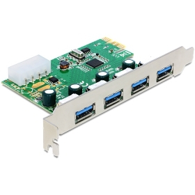 50pcs / lots VIA chip USB 3.0 4 ports PCI-E Express Controller Card 5Gbps with bracket  , Free shipping By DHL dhl ems 5 lots om ron s3s a10 us s3sa10us controller unit c a1