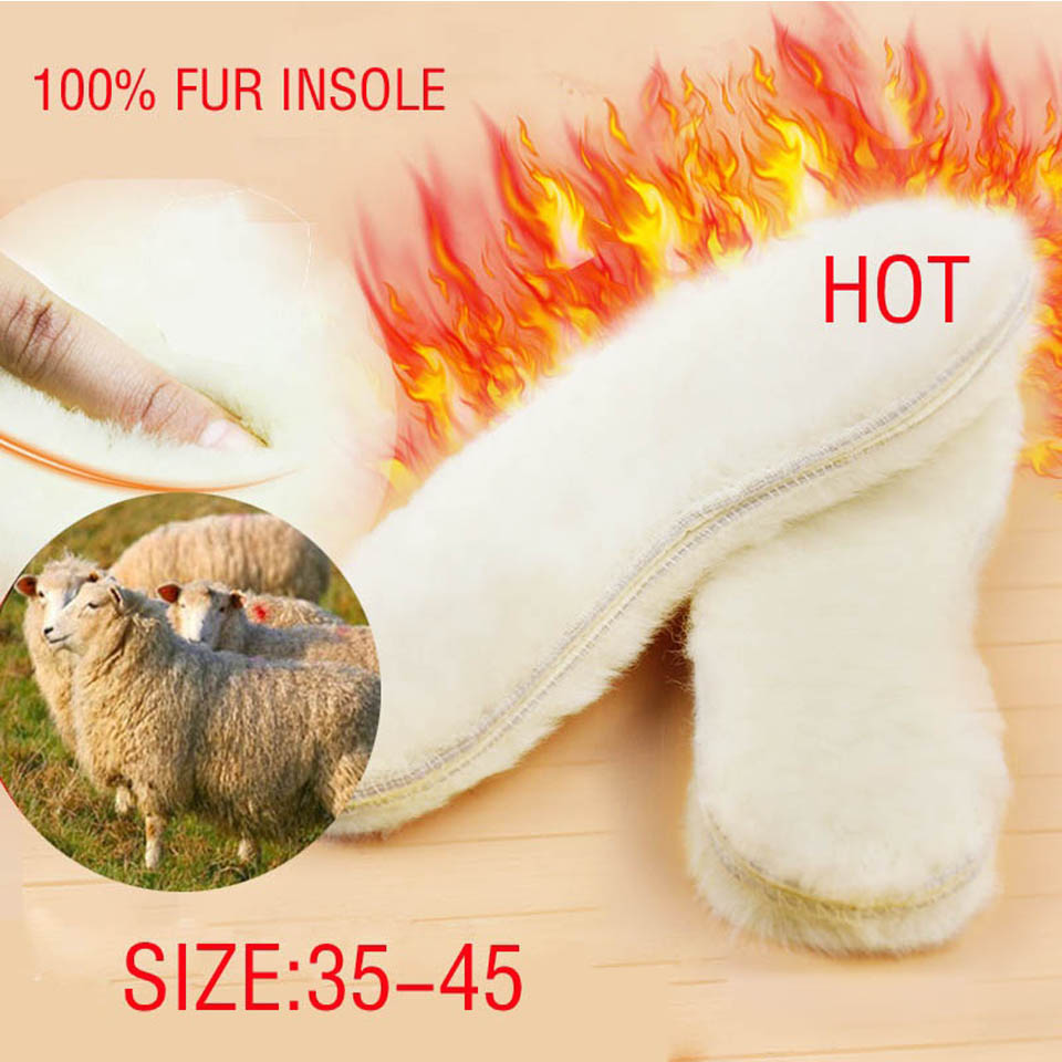 NANCY TINO Unisex Insoles for Snow Boots Thick Shoes Real Fur 100% Cashmere Sheepskin Wool Thermal Insoles Warm Soft for Boots unisex insoles for snow boots shoe pad real fur natural sheepskin thermal insoles for winter boots shoes keep warm brioche