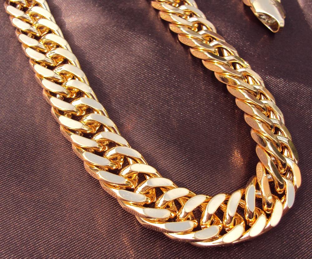 Aliexpress.com : Buy Heavy Yellow Gold GF Double Curb ...