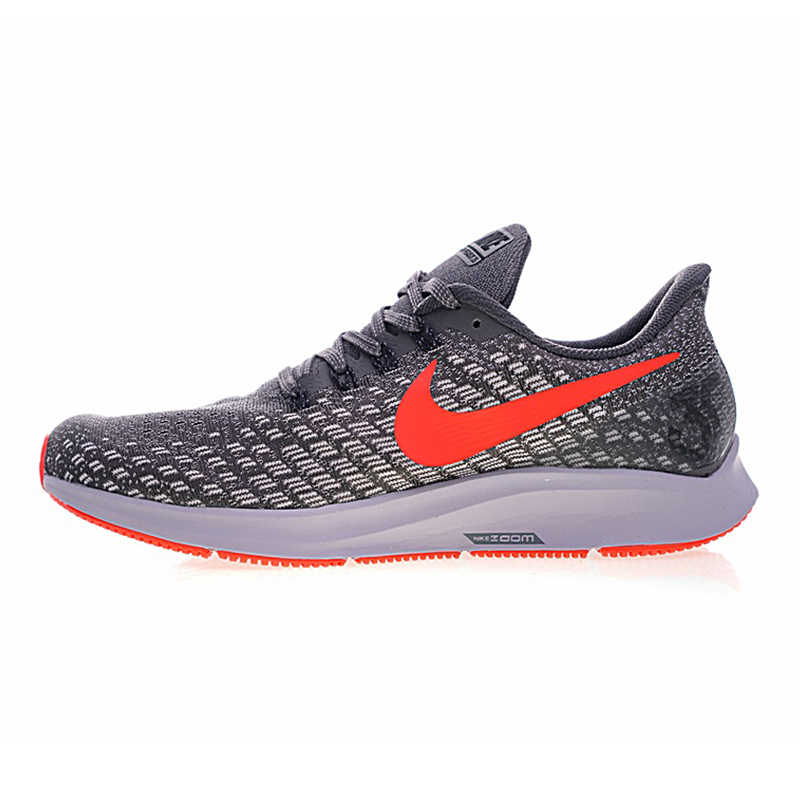 d4ef4f8878f75 ... Nike Air Zoom Pegasus 35 Men's Running Shoes, Grey & White Red, Wear  Resistant ...