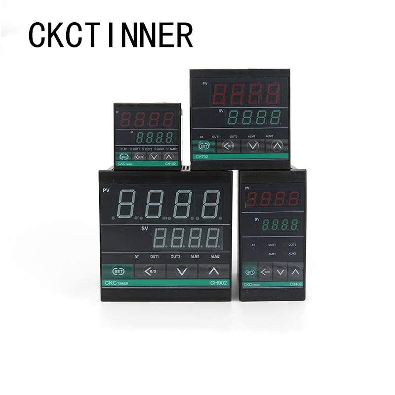 Dual Output SSR And Relay CH102 CH402 CH702 CH902 Two Relay Output LCD Digital PID Intelligent Temperature Controller48-240V AC