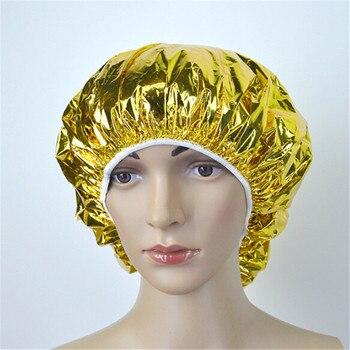 1 pc Disposable Aluminum Foil Waterproof Caps Portable Disposable Spa Hair Care Protector Hair Salon Shower Caps
