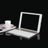 F8S Password Free Ultra Light Metal 7 Colors Backlight Wireless Bluetooth Keyboard Hard Case For IPad