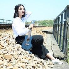 Concert Acoustic Electric Ukulele 23 Inch Guitar 4 Strings Ukelele Guitarra Handcraft Black Blue Mahogany Uke