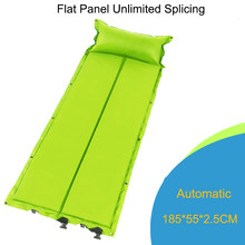 Inflatable Mattress with Pillow Camping Mat Automatic Pad Single-person Thickening Portable Moisture-proof Mat Beach Foldable(China)