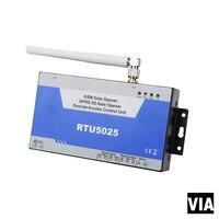 RTU5025 شحن مجاني gsm بوابة فتاحة ، فتاحة الباب ، خلية التبديل ، 3 جرام باند عن التبديل on off بواسطة الهاتف المحمول ث/2 المدخلات الرقمية