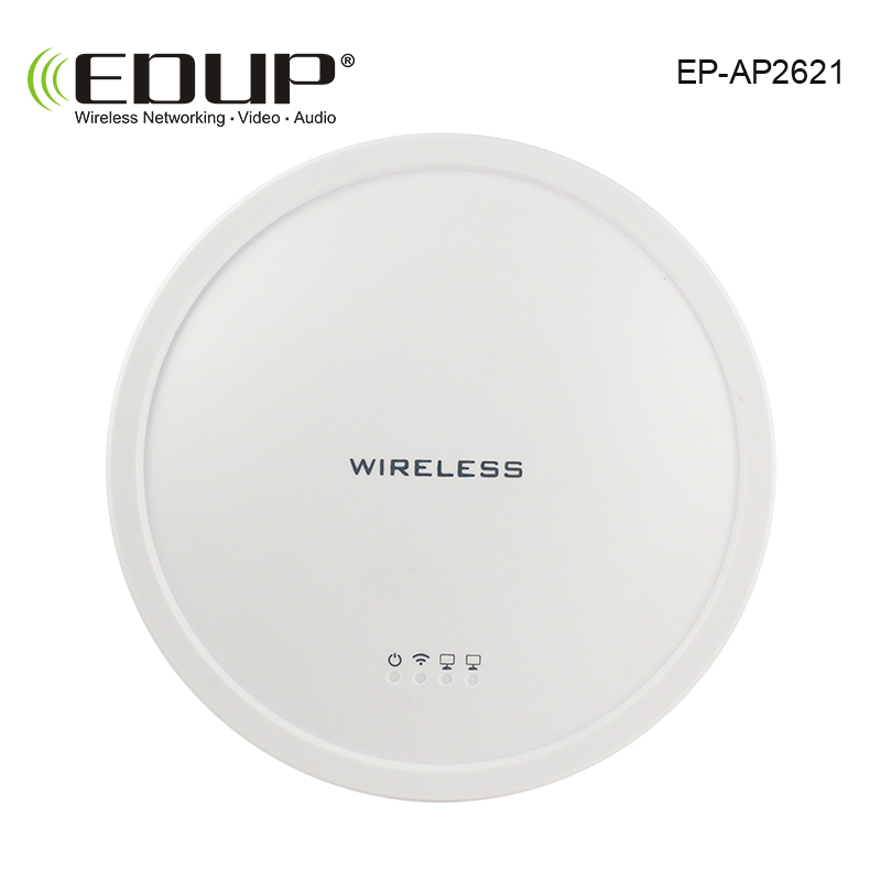 все цены на EDUP High Power 300Mbps 2.4Ghz Wireless Ceiling AP Access Point Indoor WiFi Wide Coverage 2*5 dbi antennas AR9341+SiGe2576L chip онлайн