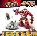 Decool 7110 bloques de construcción super heroes avengers the hulk buster smash ensamblamiento ladrillos juguete compatiable 76031