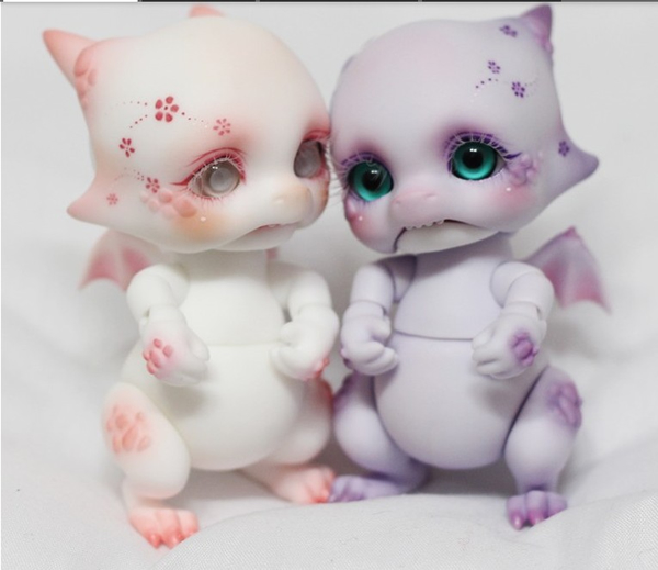 Free shipping!free body makeupeyes!top quality bjd 1/8 baby doll Dangon fancy pet dragon purple pink cute hot toy kids Ai leen william mark change face feisty pet black cat funny expression stuffed animal doll for kids cute christmas free shipping