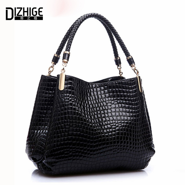 Designer Brand Bags Women PU Leather Luxury Ladies Hand Bags - Crocodile Leather Shoulder Bags