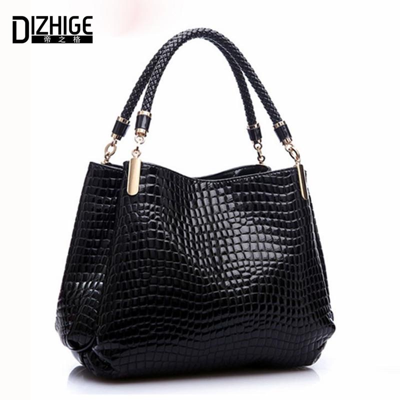 Famous Designer Brand Bags Women Leather Handbags 2018 Luxury Ladies Hand Bags Purse Fashion Shoulder Bags Bolsa Sac Crocodile
