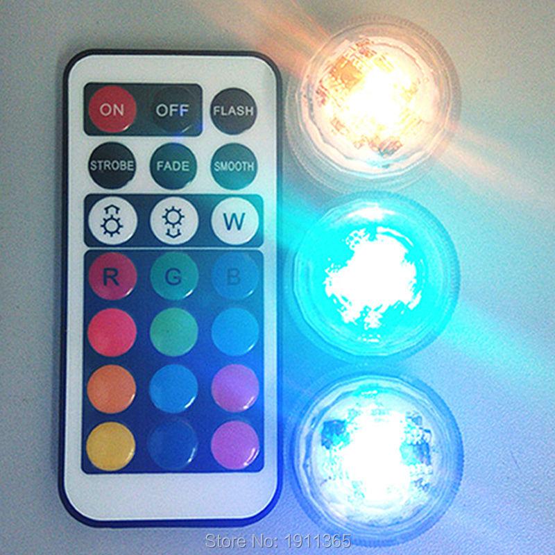 10pcs Vjenčanje dekoracija + 2kom daljinski upravljač uronjeni LED - Rasvjeta za odmor - Foto 2