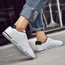Men Casual Shoes Flat Sneakers Soft Leather Shoes Mans Footwear Breathable Zapatos Hombre Summer Fashion Solid Male Shoes  5 northmarch luxury fashion leather sneakers for men elastic band shoes men breathable casual shoes men footwear zapatos hombre