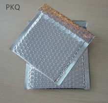 100pcs Small Plastic Poly Bubble Mailing Mailer Shipping Padded Envelopes Bags Silver Color Shockproof Courier  Bubble Envelope