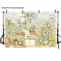 MEHOFOTO New Easter Peter Rabbit Theme Photo Background 7x5ft Children Photography Backdrops for Photo Studio LV-106