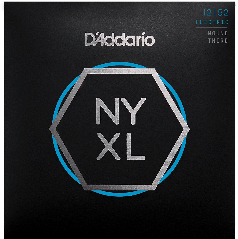 DAddario NYXL1252W / NYXL1356W Nickel Wound Electric Guitar Strings, Light Wound 3rd, 12-52 / 13-56