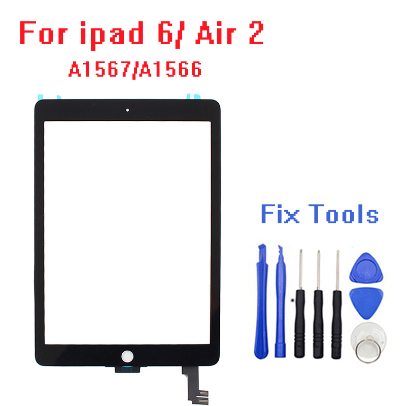 100% tested For ipad 6 6th air 2 touch screen glass with flex cable A1567 A1566 Free Tools with adhesive100% tested For ipad 6 6th air 2 touch screen glass with flex cable A1567 A1566 Free Tools with adhesive