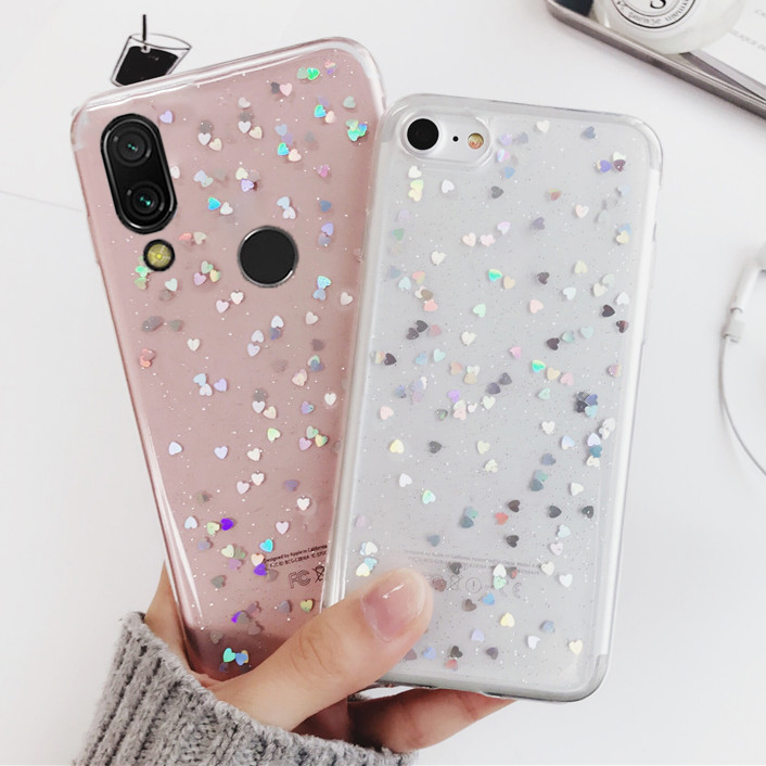 Silicone <font><b>Case</b></font> for <font><b>Huawei</b></font> P30 Pro P20 Lite Mate 10 20 Nova 3 4 Honor 7A 7C Y6 <font><b>Y7</b></font> Y9 2018 P Smart Plus <font><b>2019</b></font> Cover Love Heart Star image