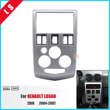 2Din Car Radio Fascia for 2004 2005 2006 2007 RENAULT LOGAN 2 DIN Trim Dash CD Installation Kit Stereo Interface Frame Panel