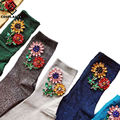 [Cosplacool] new chegou estilo coreano moda mulheres meias de inverno gem sun flower gem doce cor hand-made meias meias calcetines