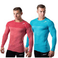 Mens Long Sleeve T shirt Bodybuilding Fitness Gyms Clothing 2017 New Mens Gyms Compression Sporting Tops Tight Tee