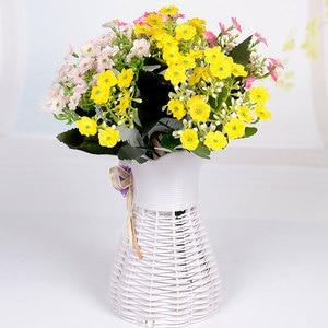 Image 3 - 新 6 枝エミュレーションシルクフラワーフォークミラノコーヒーテーブル人工花の結婚式ホームパーティーの装飾