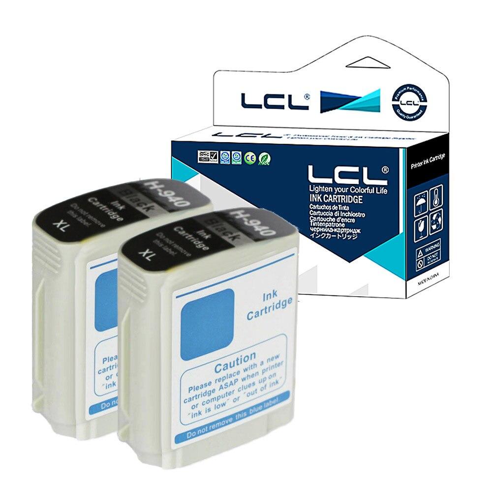 LCL 940XL 940 XL (2-Pack Black ) Ink Cartridge Compatible for HP Officejet Pro 8000-A809a A811a A809n 8000 Wireless lcl 970xl 970 xl 1 pack black ink cartridge compatible for hp officejet pro x451dn printer x451dw x551dw