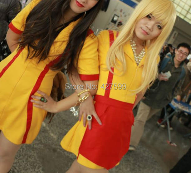 Chaude Série 2 Broke Girls Max Caroline Serveuse Uniforme Cosplay