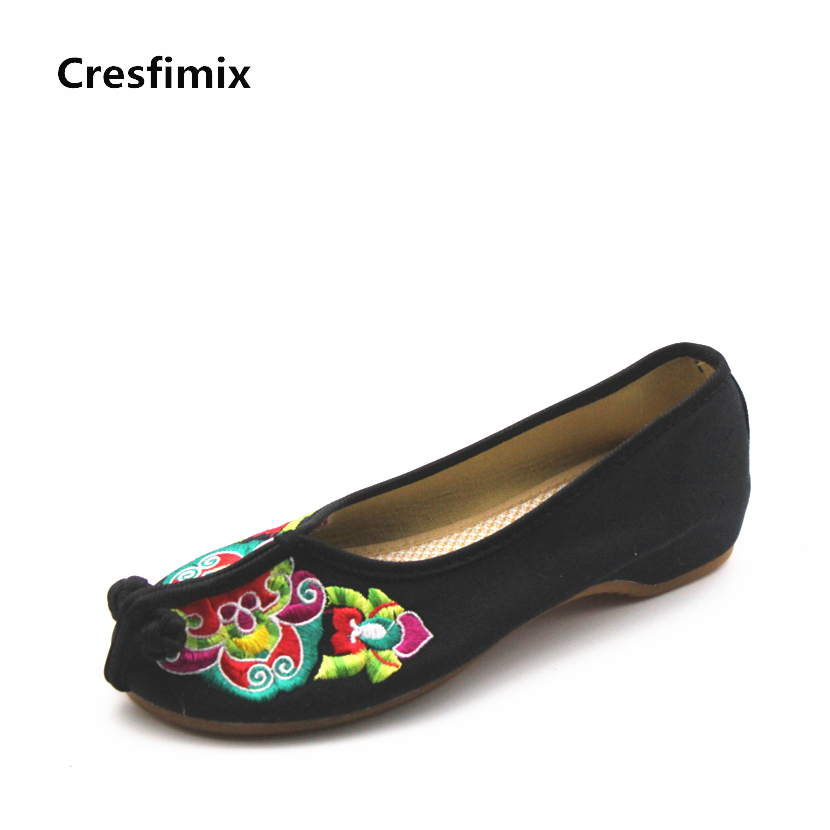 Cresfimix women fashion floral outside slippers female spring and summer slip on home slippers lady casual retro canvas shoes cresfimix women fashion