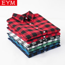 Long Sleeve Plaid Shirt Women 2018 New Cotton Flannel Casual Shirts Female Blouses Lady Good Quality College Style Tops Blusa(China)