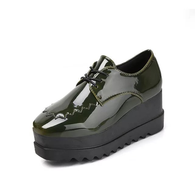 2017 Oxfords Shoes for Women Platform Creepers Slip On Women's Oxfords Shoes Casual Ladies Flats Shoes Loafers 7 cm