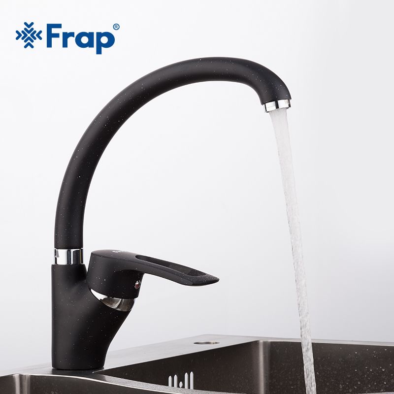 Frap Modern black Spray painting Kitchen sink Faucet Cold and Hot Water Mixer Tap Single Handle 360 Rotation torneira F4166-7 цены онлайн
